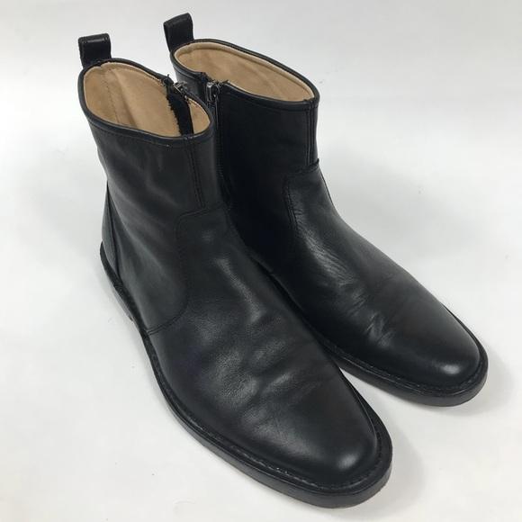 Coach Shoes Mens Black Leather Jeremy Dress Boots Poshmark